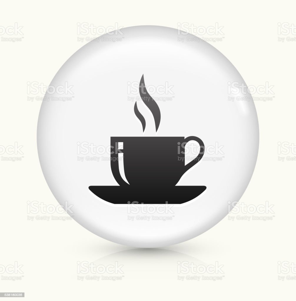 Hot Cup icon on white round vector button vector art illustration