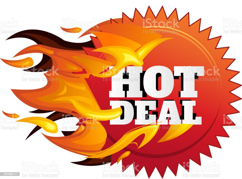 Hot Deal Label vector art illustration