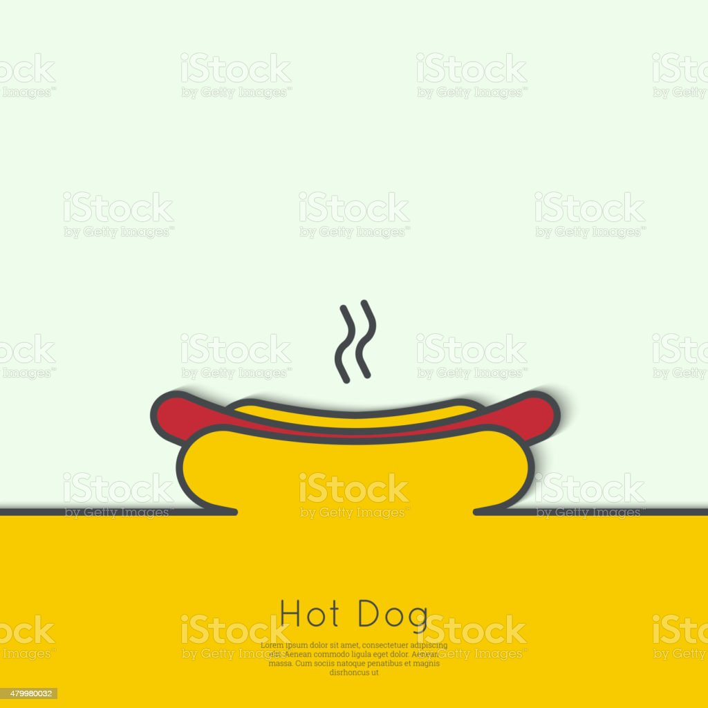 Hot Dog icon vector art illustration