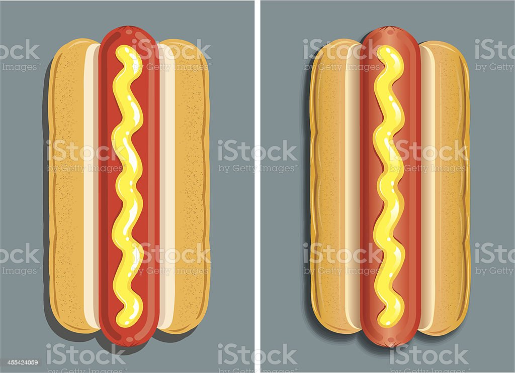 Hot Dog - Junk Food royalty-free stock vector art