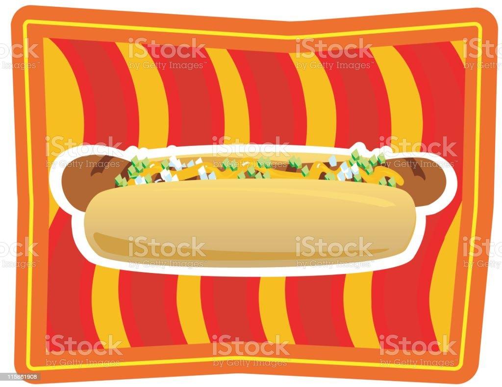 Hot Dog - Kitsch food royalty-free stock vector art