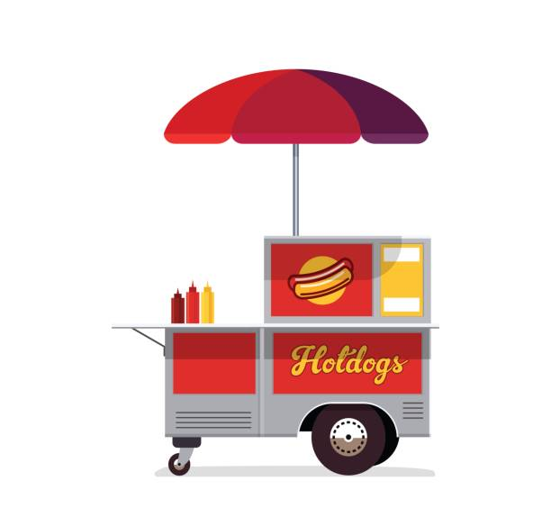 Hot Dog Cart Clip Art
