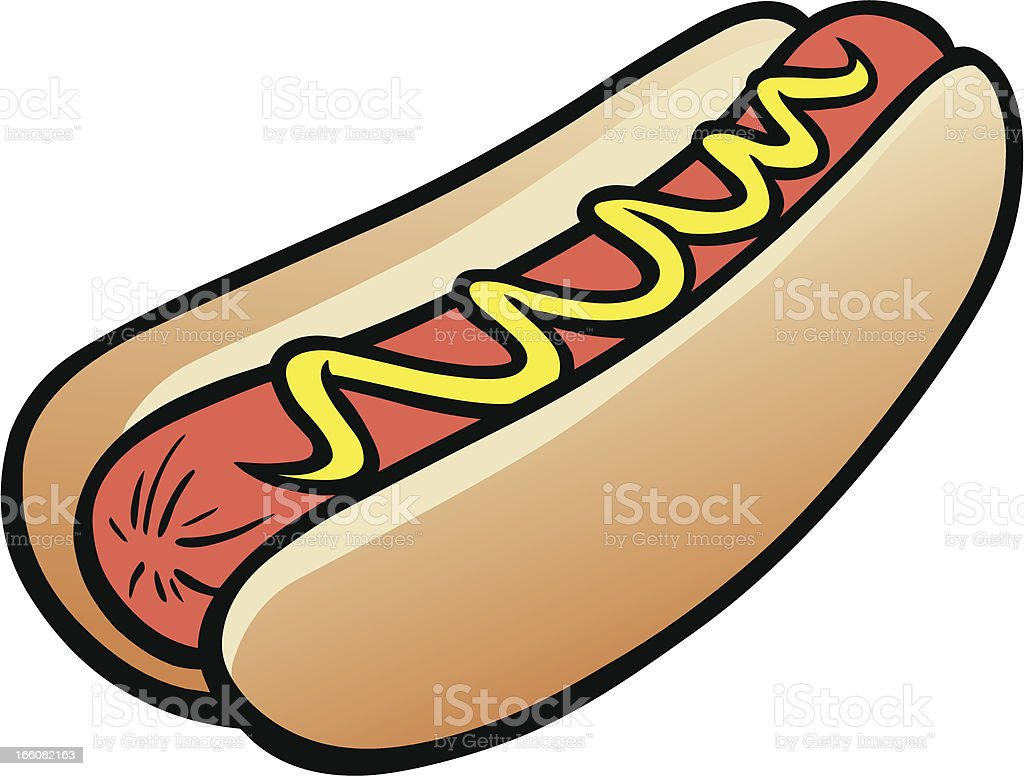 Hot Dog vector art illustration