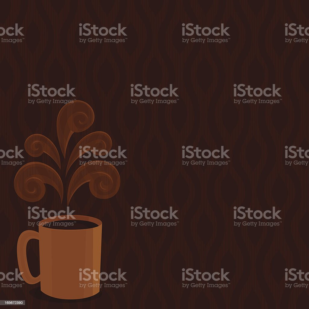 Hot drink background royalty-free stock vector art