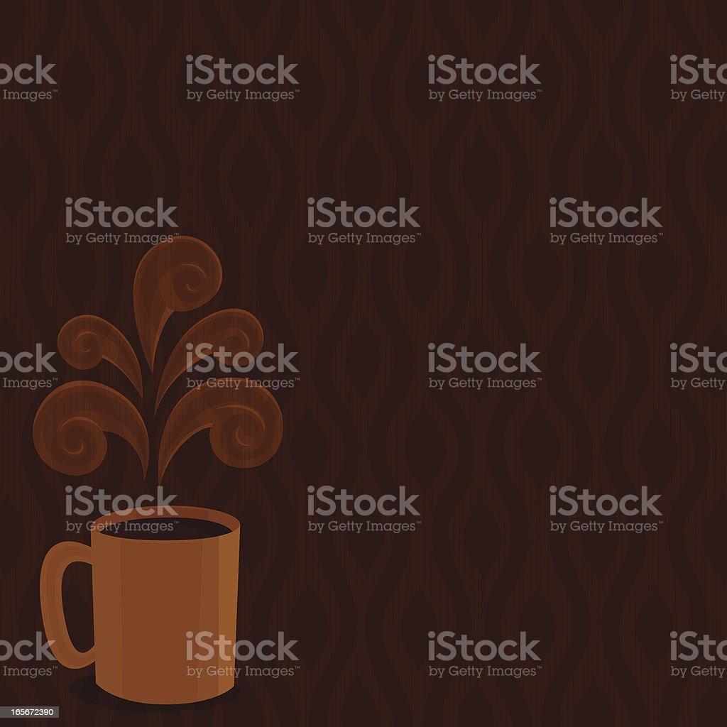 Hot drink background vector art illustration