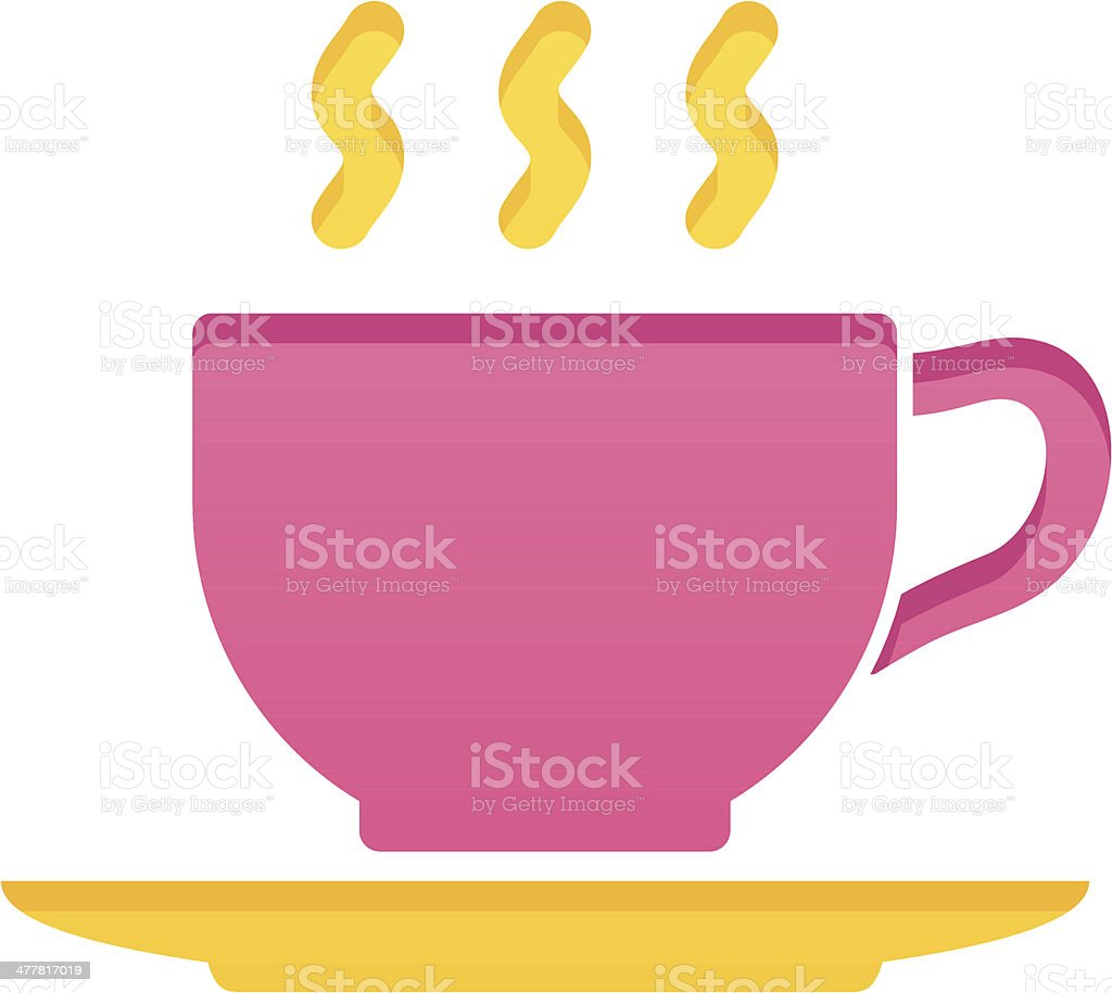 Hot drink cup royalty-free stock vector art
