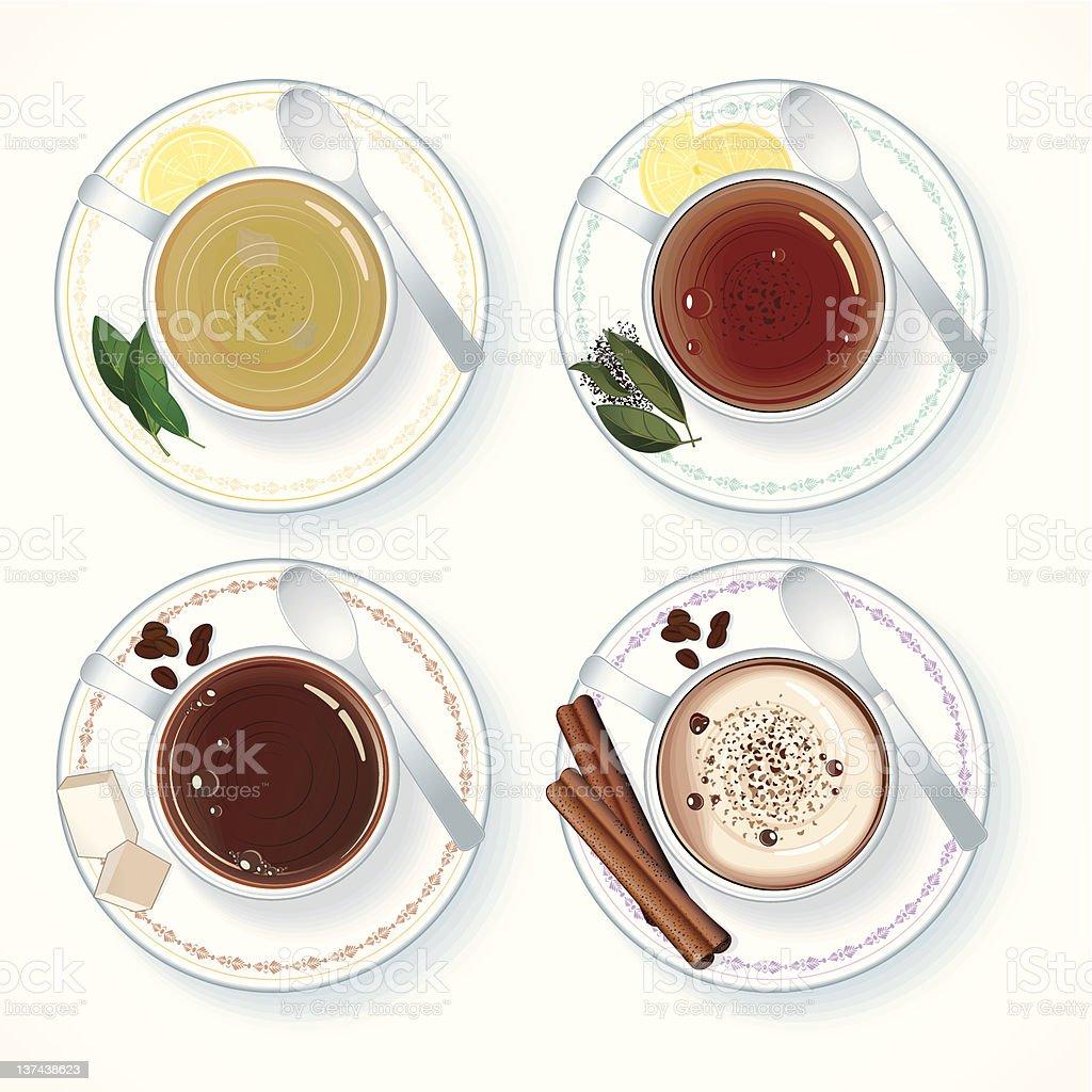 Hot drinks royalty-free stock vector art