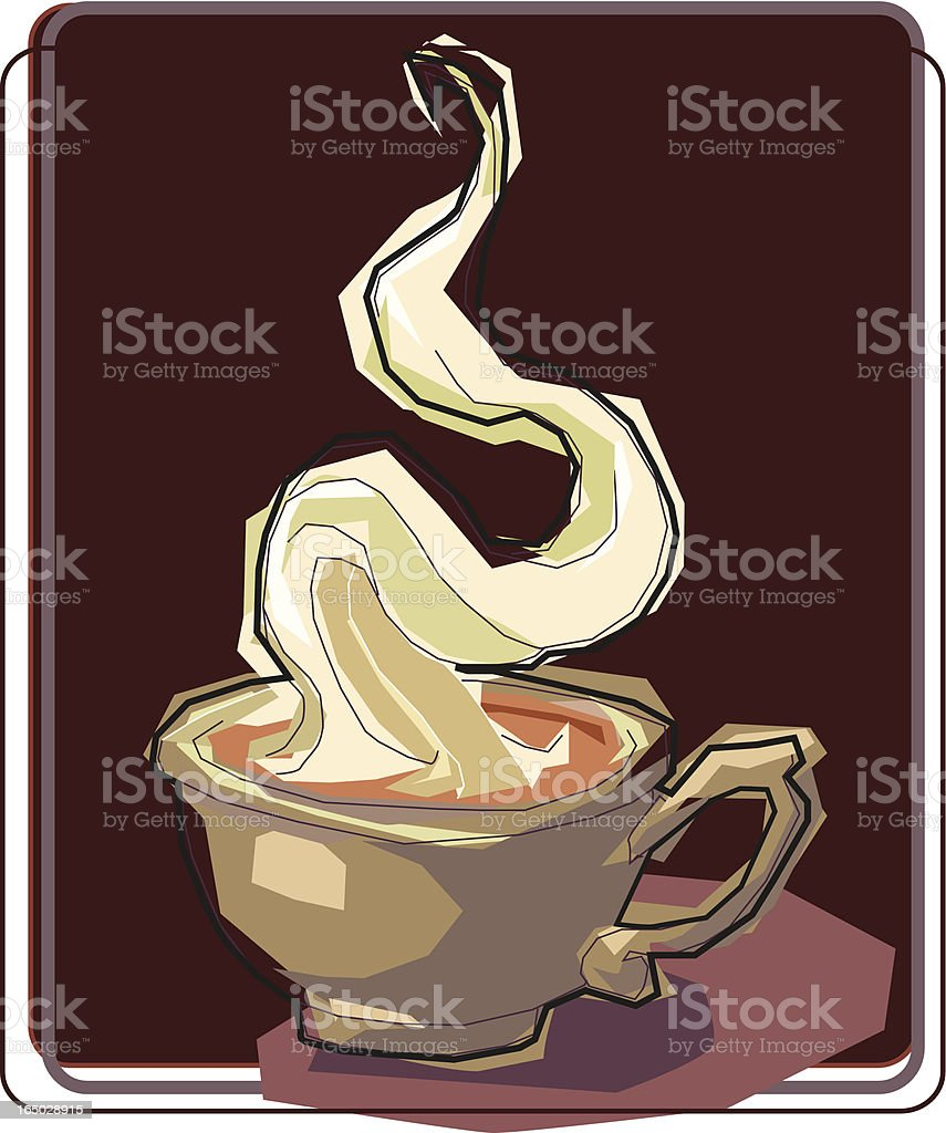 Hot Latte royalty-free stock vector art