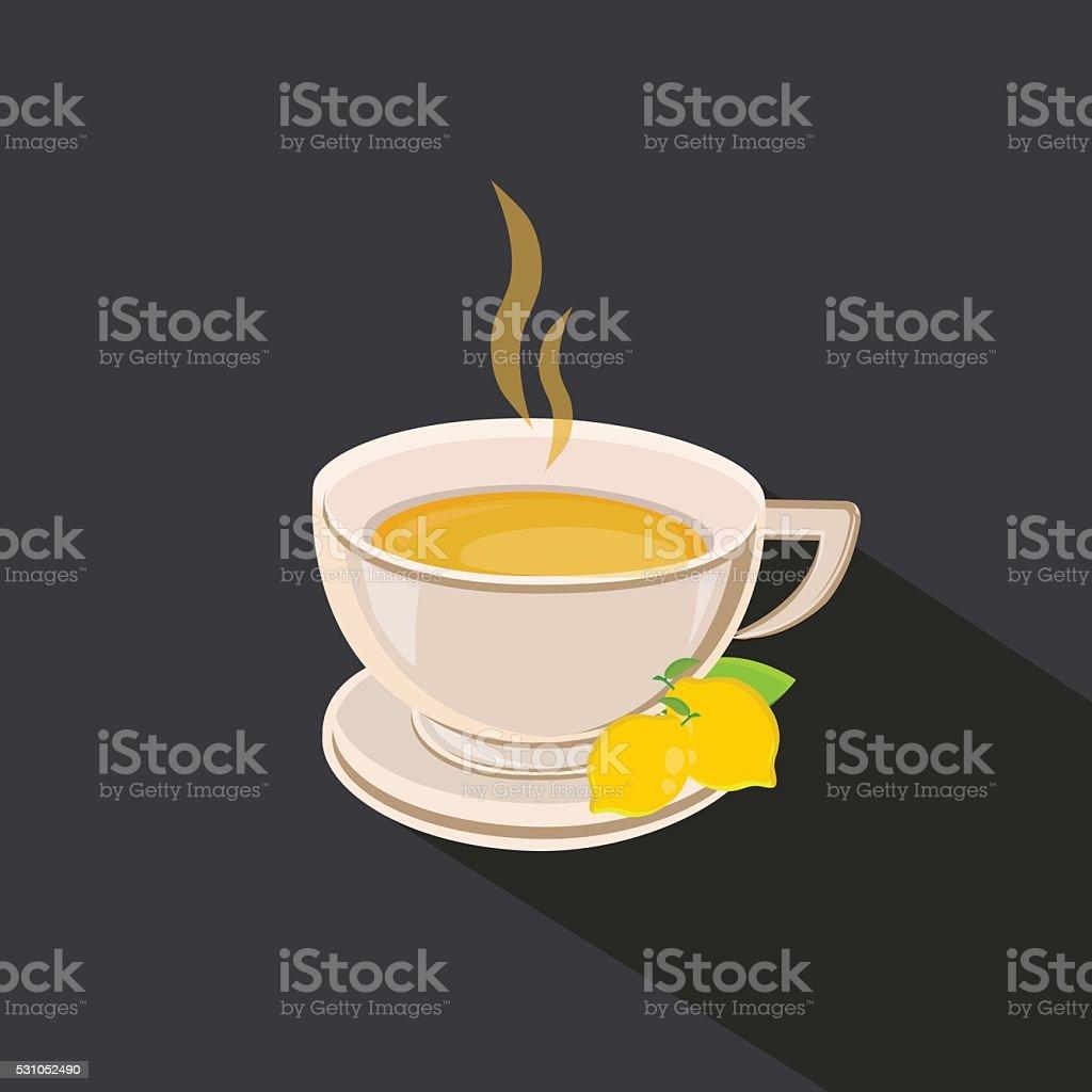 Hot Lemon Vector vector art illustration