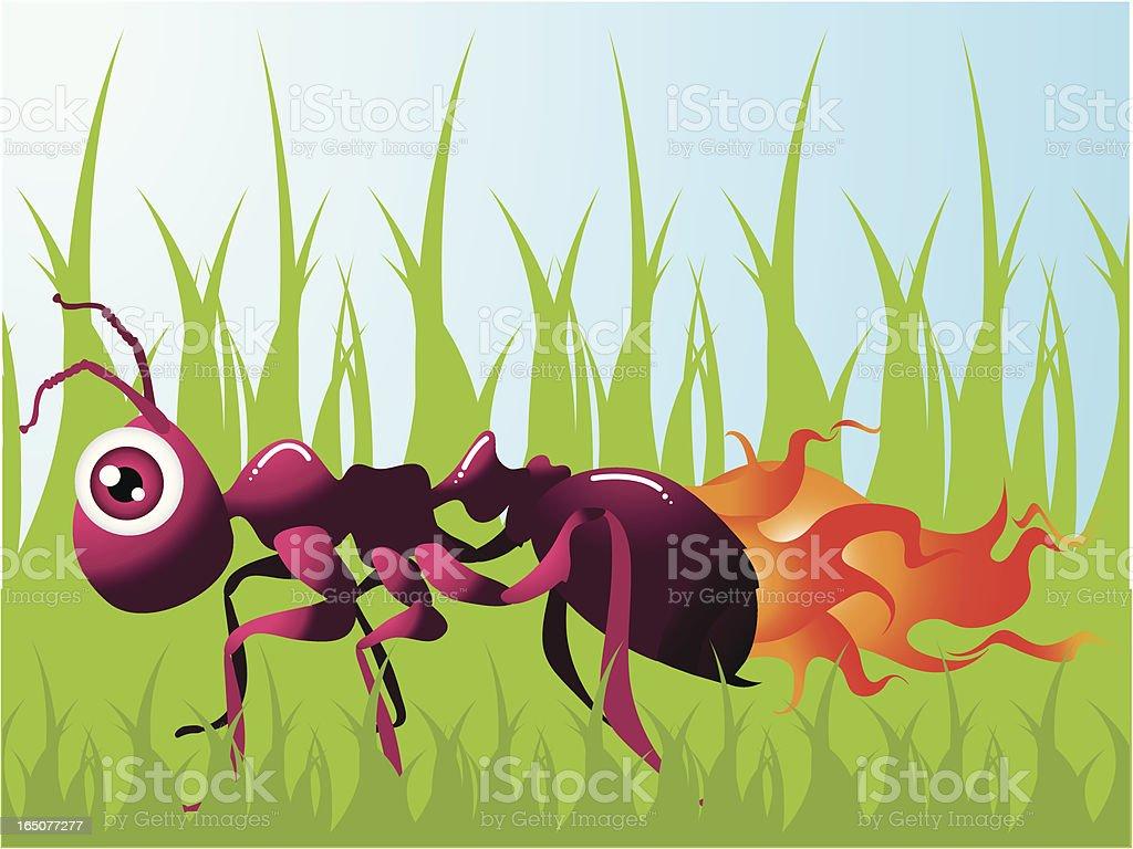 Hot Little Fire Ant vector art illustration