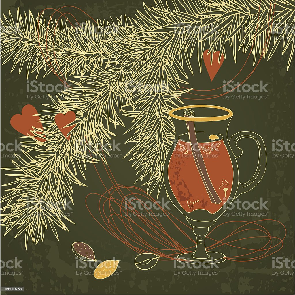 Hot Mulled Wine royalty-free stock vector art