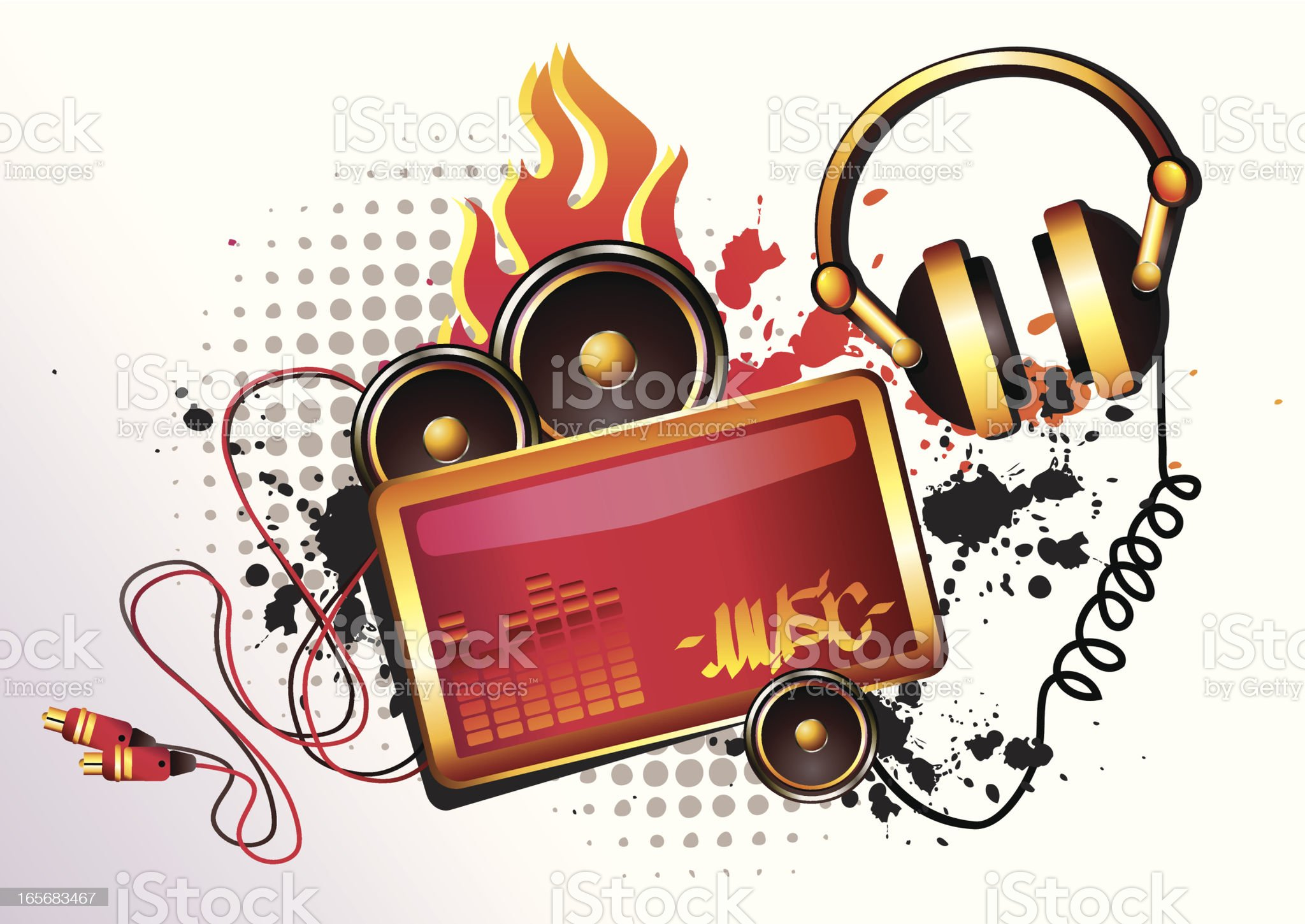 Hot Music Tag royalty-free stock vector art