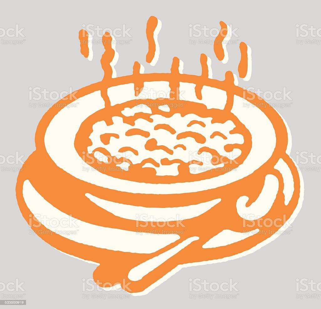 Hot Oatmeal vector art illustration
