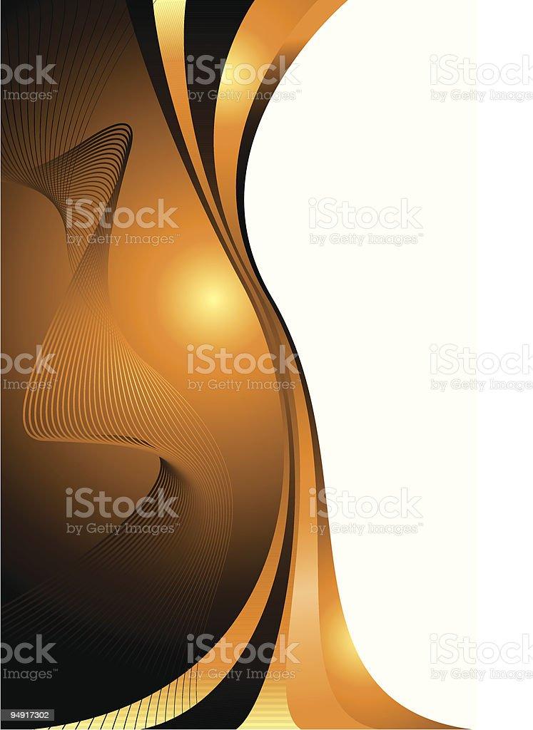 hot orange glow royalty-free stock vector art