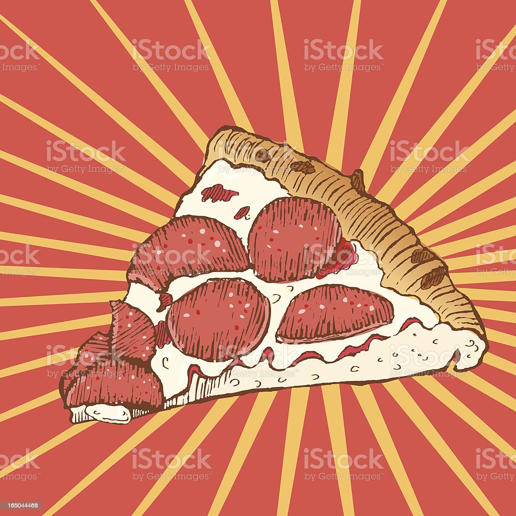 Hot Pizza royalty-free stock vector art