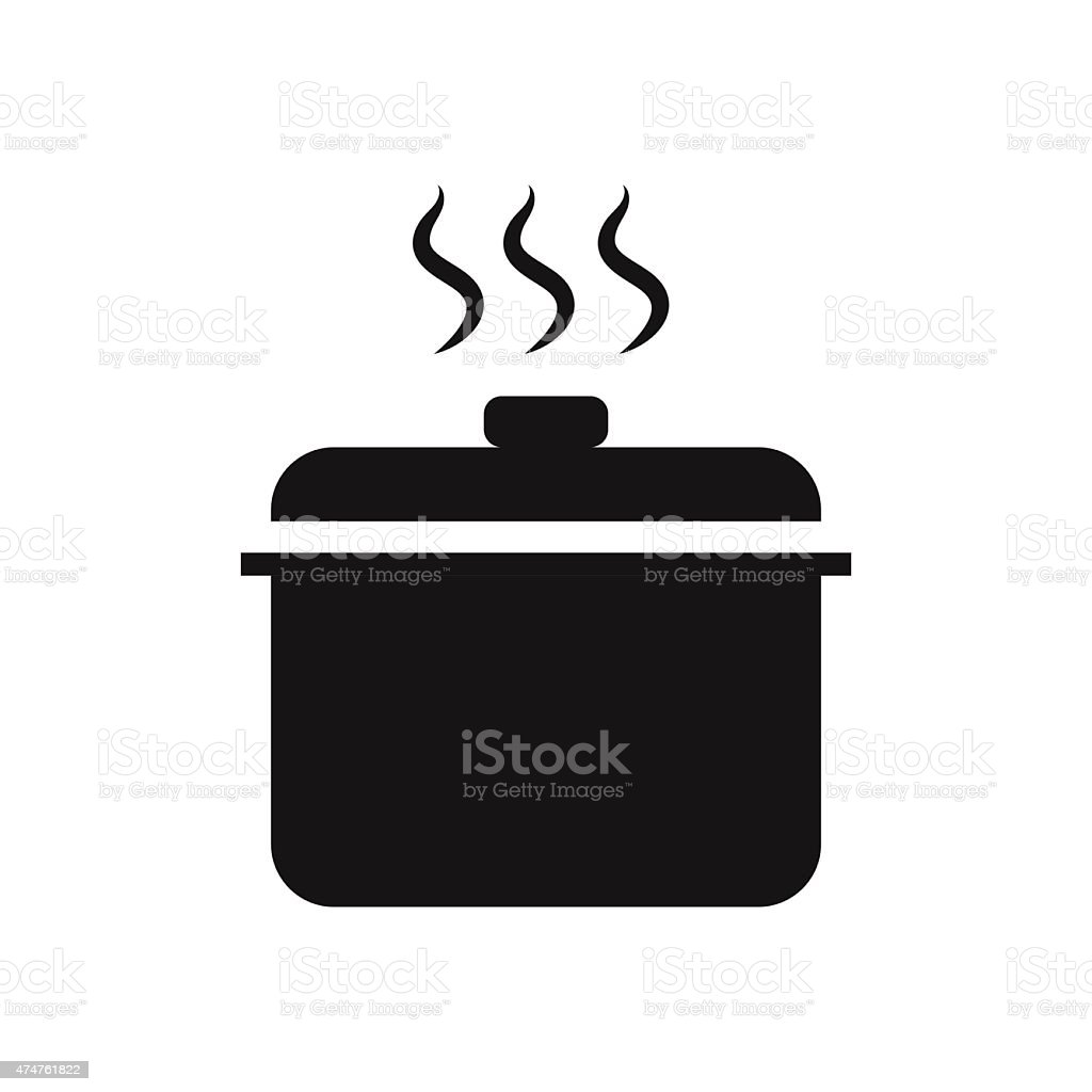 Hot pot  symbol icon vector illustration eps10 on white backgrou vector art illustration