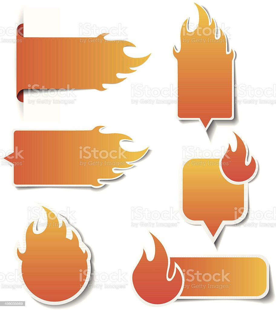 Hot Price Sales Labels vector art illustration