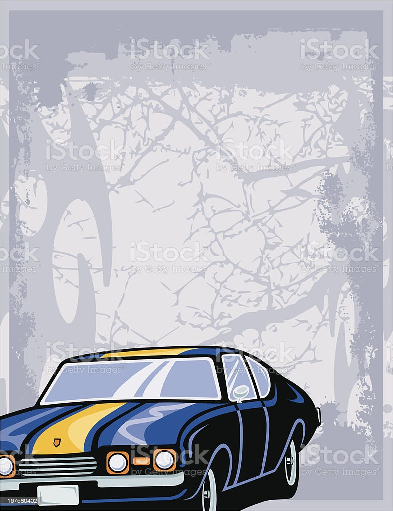 Hot Rod Automotive Background Series royalty-free stock vector art