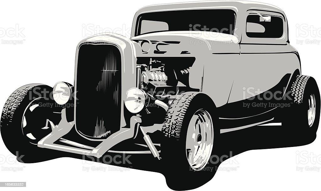 Hot Rod Coupe - 1932 vector art illustration