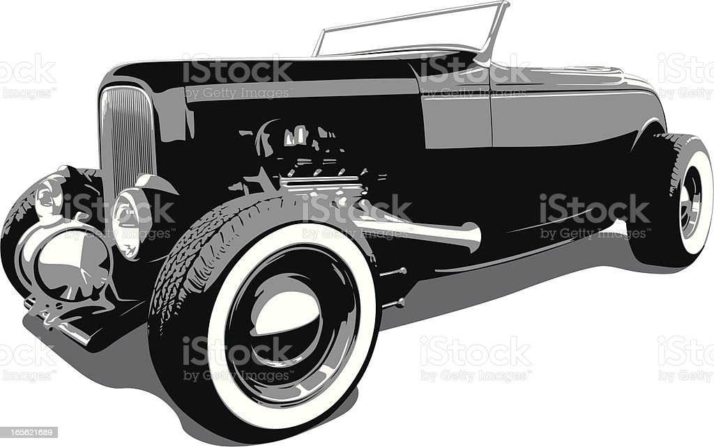 Hot Rod Ford - 1932 royalty-free stock vector art