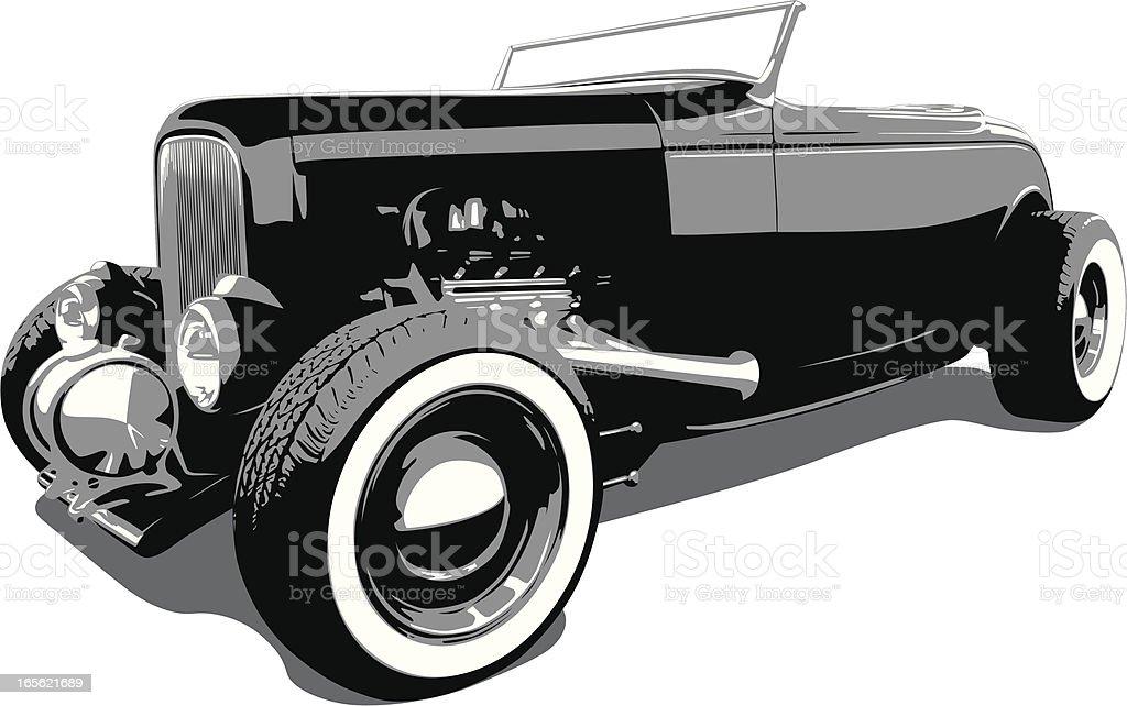 Hot Rod Ford - 1932 vector art illustration
