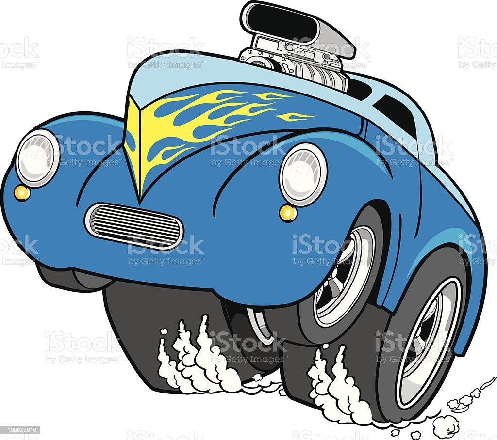 hot rod race vector art illustration