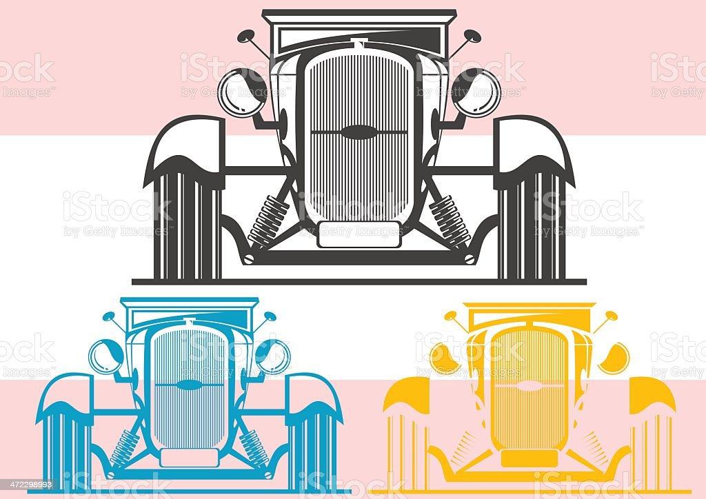 Hot rod royalty-free stock vector art