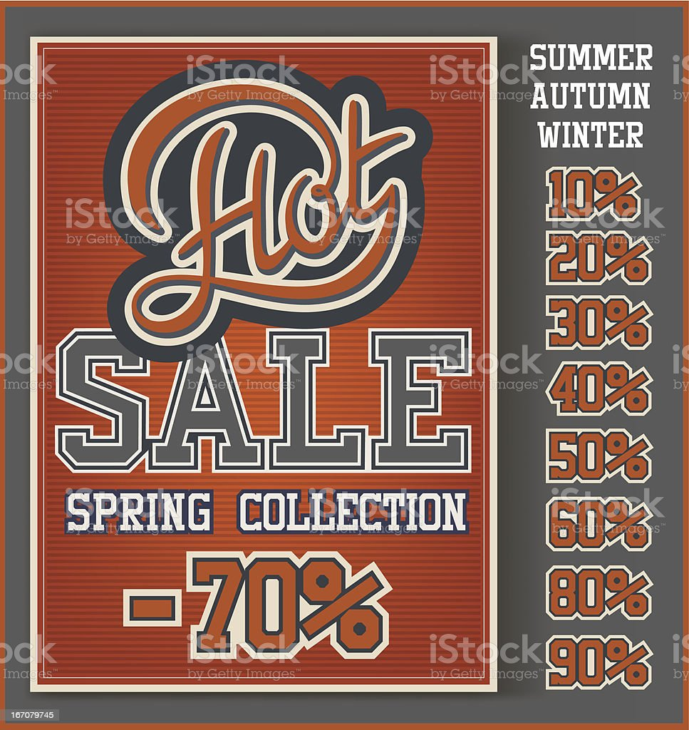 Hot Sale collection royalty-free stock vector art