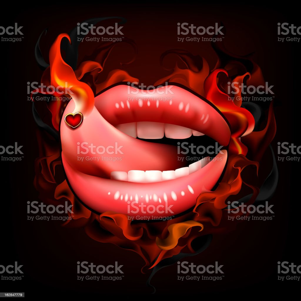 Hot sexy lips royalty-free stock vector art
