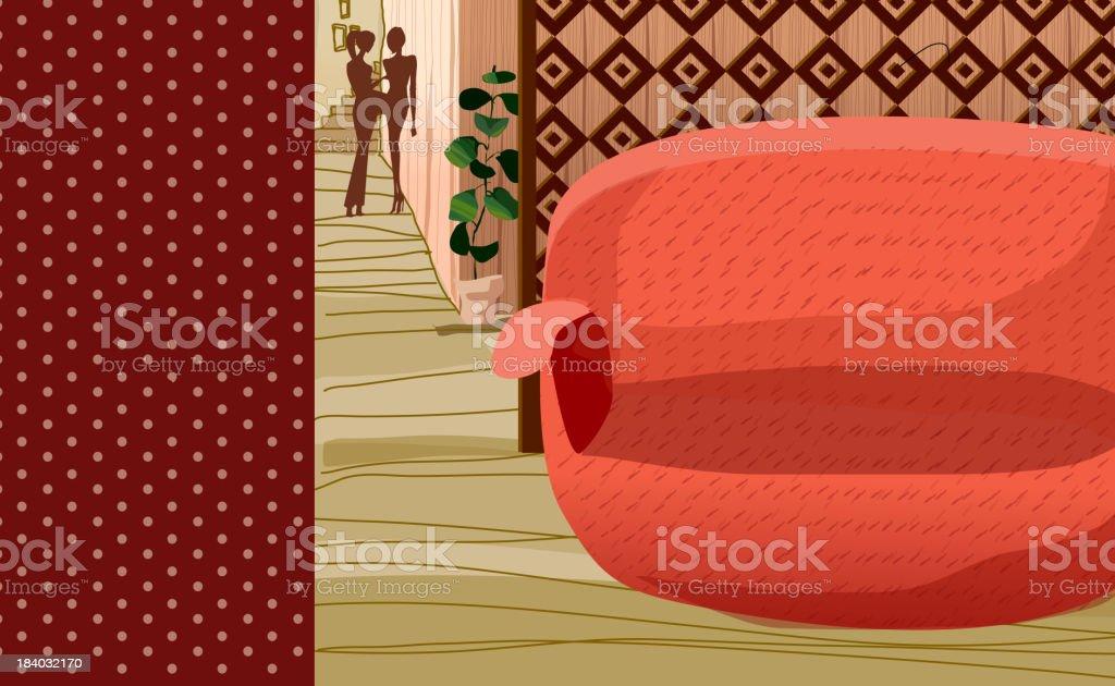 Hot spring tub vector art illustration