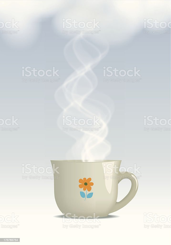 Hot steaming drink royalty-free stock vector art