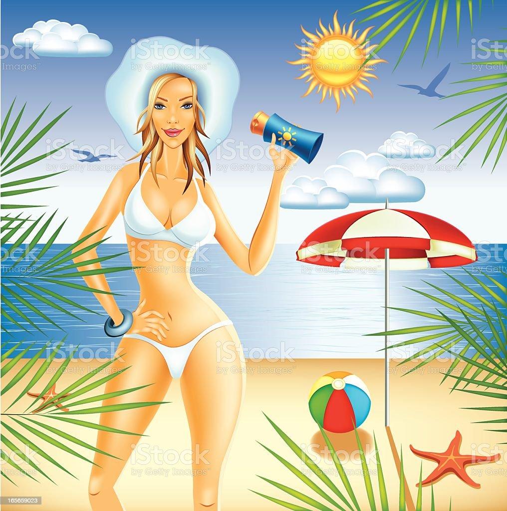 Hot Summer on the beach royalty-free stock vector art