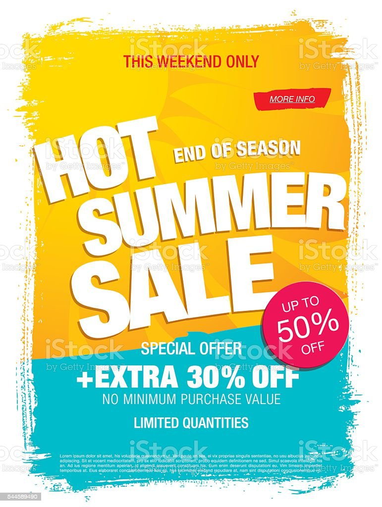 Hot Summer Sale banner vector art illustration