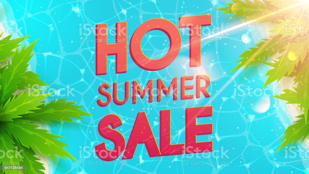 Hot summer sale banner royalty-free stock vector art