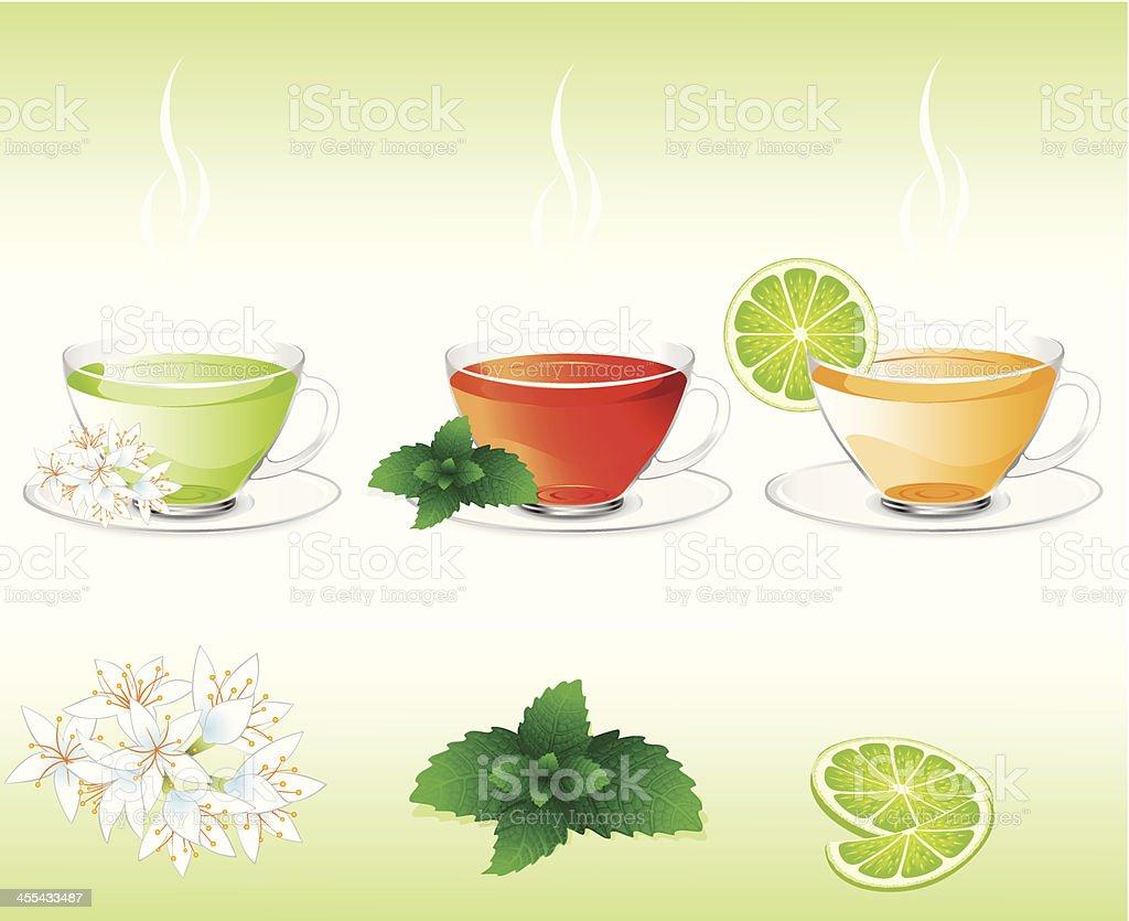 Hot Tea vector art illustration