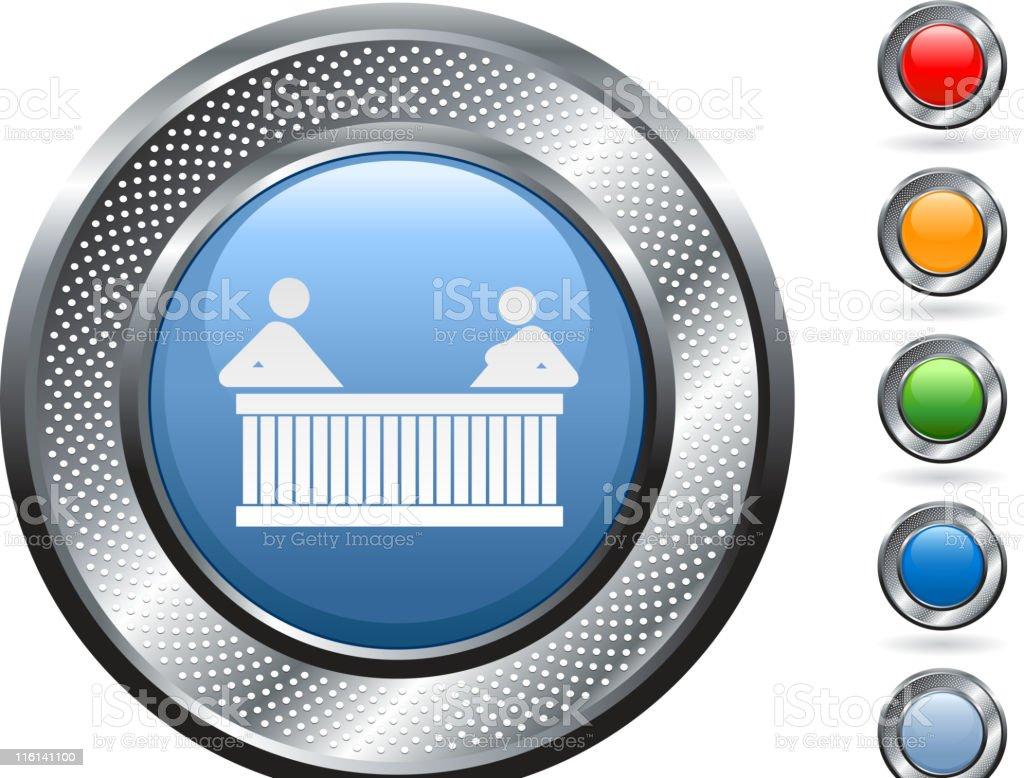 hot tub royalty free vector art on metallic button royalty-free stock vector art
