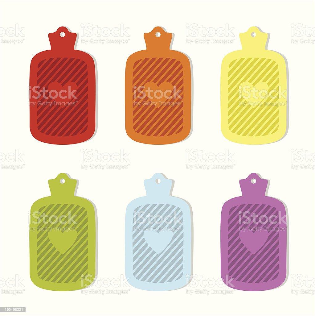 hot water bag royalty-free stock vector art