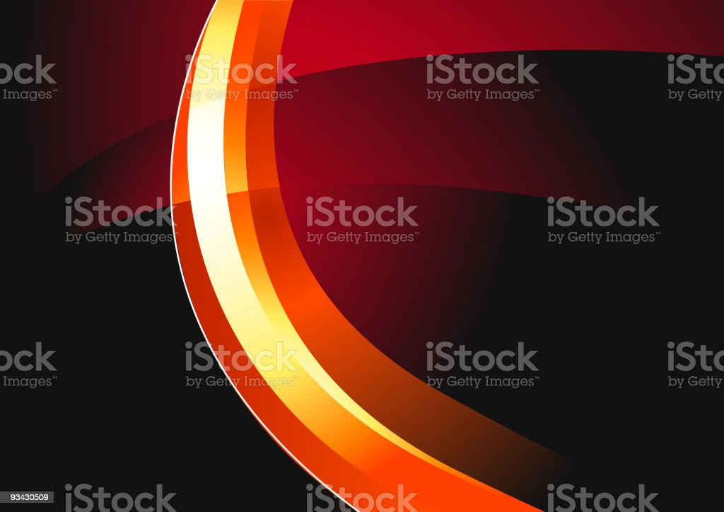 Hot Wire Waves royalty-free stock vector art