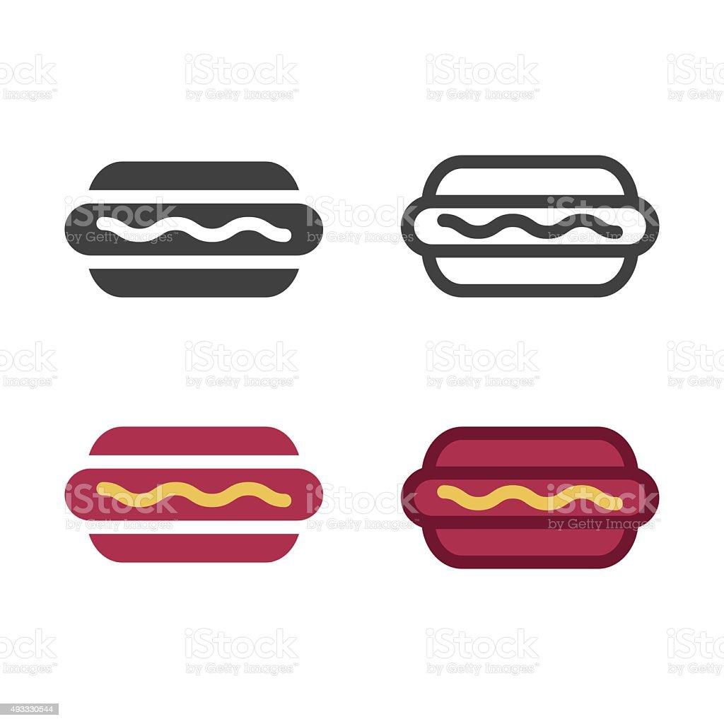 Hotdog Icon vector art illustration