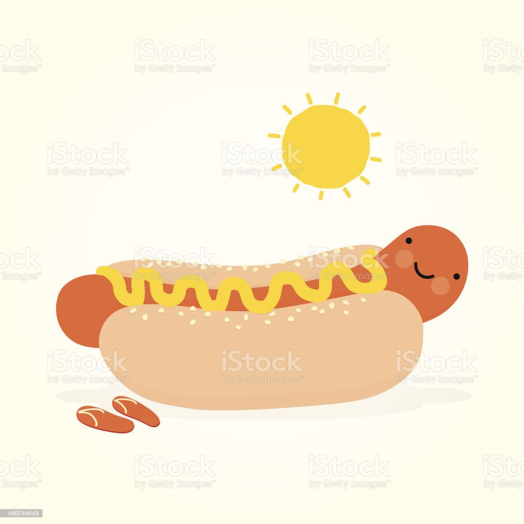 Hot-dog royalty-free stock vector art