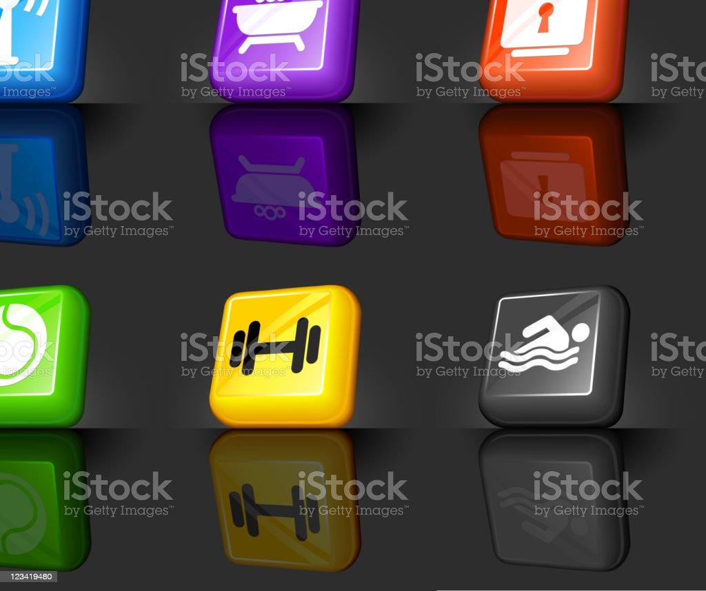 Hotel amenities internet royalty free vector icon set royalty-free stock vector art