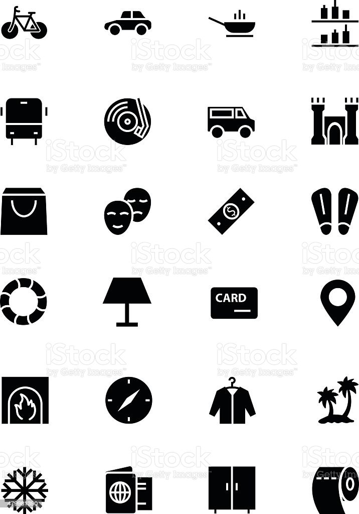Hotel and Restaurant Vector Icons 5 vector art illustration