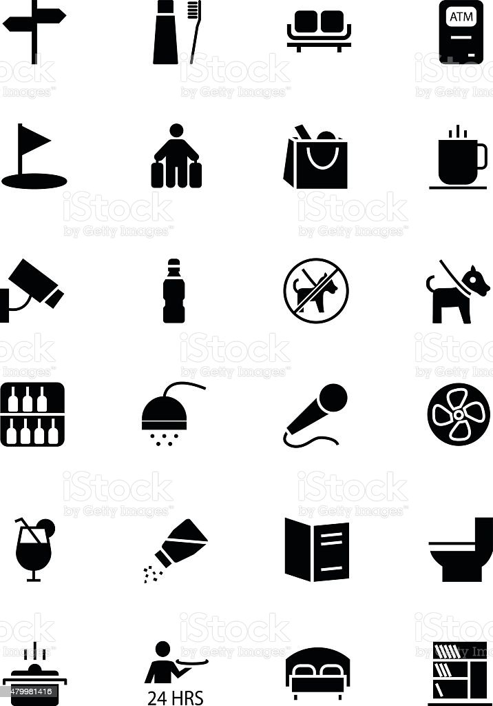 Hotel and Restaurant Vector Icons 7 vector art illustration