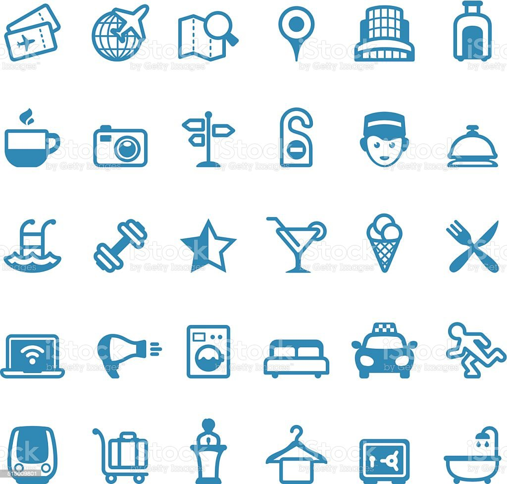 Hotel and Travel icons / Linico series vector art illustration
