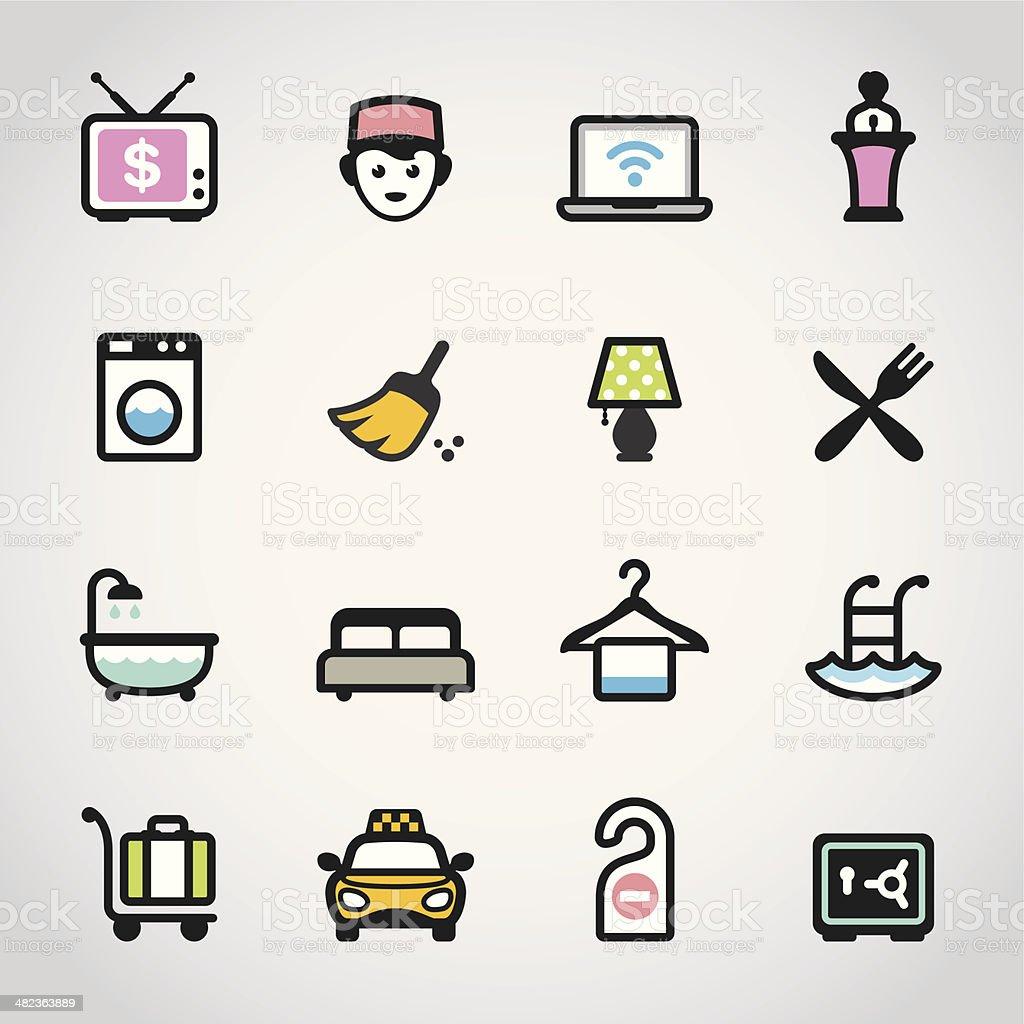 Hotel / Fabrico icons royalty-free stock vector art