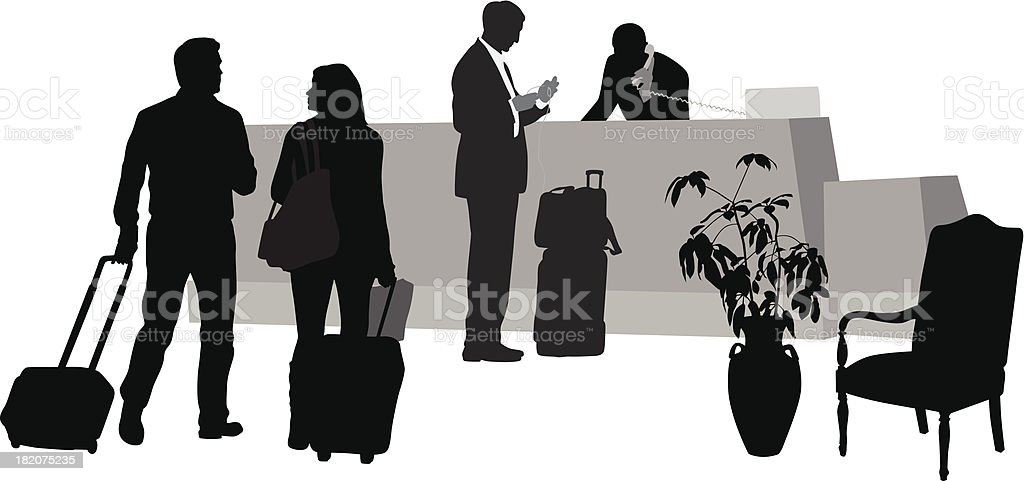 Hotel Guests royalty-free stock vector art