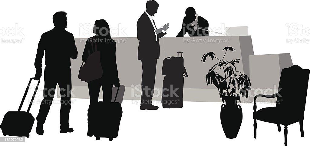 Hotel Guests vector art illustration