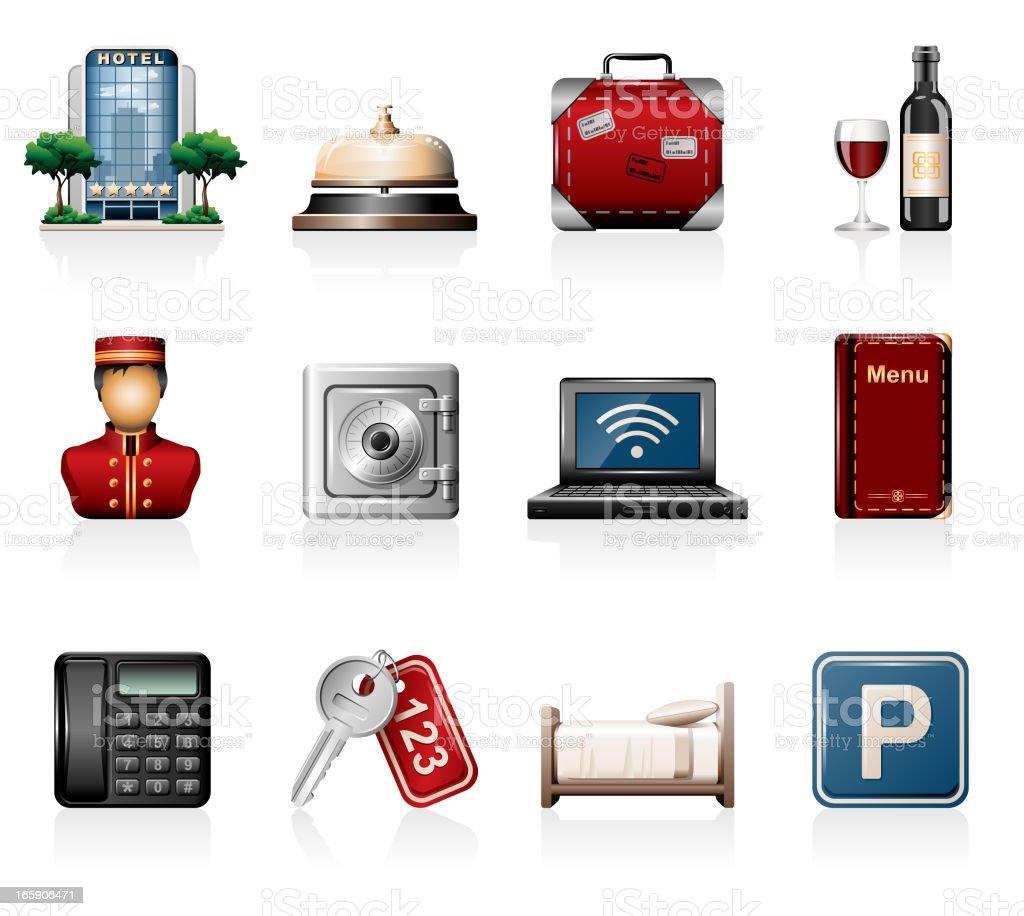Hotel Icon Set royalty-free stock vector art
