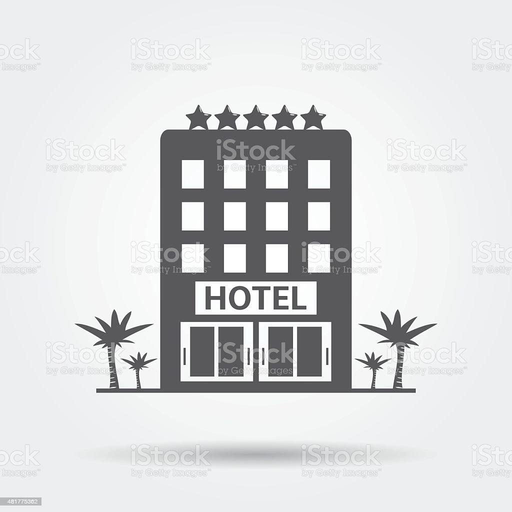 호텔 아이콘 일러스트 481775362 | iStock