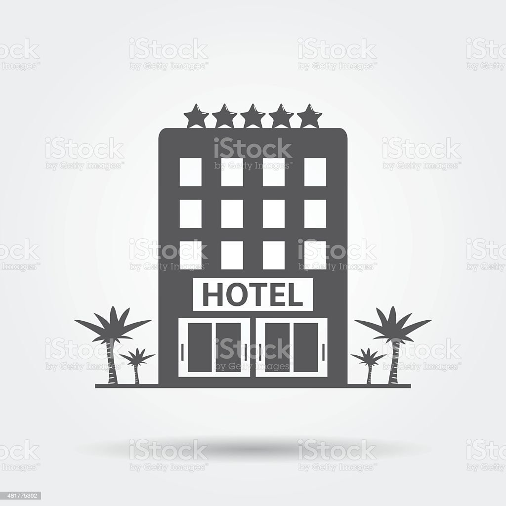Hotel Icon vector art illustration